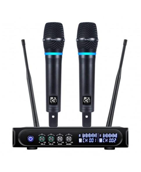 """MM """"X-3"""" ( ИКС-ТРИ) - беспроводная радиосистема с 2-мя радиомикрофонами, Bluetooth, On-Line караоке, линейное подключение к любому усилителю"""