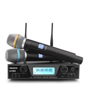 """MM """"X-PRO"""" - профессиональная вокальная радиосистема. 2 высококачественных ручных микрофона, сменные частоты"""