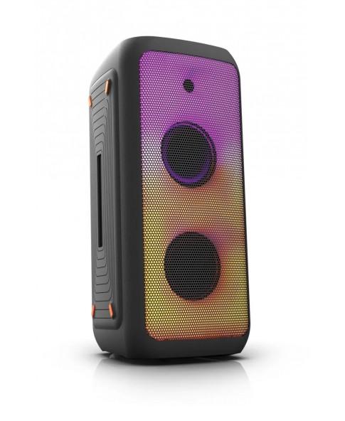 """ELTRONIC EL 20-13 """"FIRE BOX 800"""" - беспроводная автономная аккумуляторная акустическая система, Bluetooth, USB, караоке, 800 Вт, активная световая LED панель, TWS"""