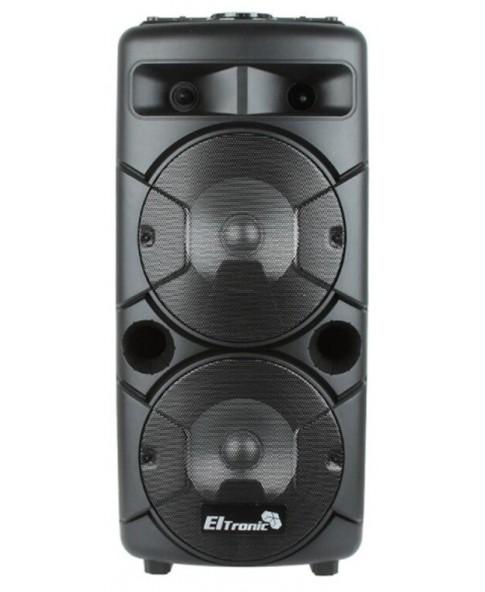 ELTRONIC EL 20-24 «CRAZY BOX» – аккумуляторная bluetooth колонка, 60 Вт, MP3, USB, FM радио, пульт ДУ, караоке