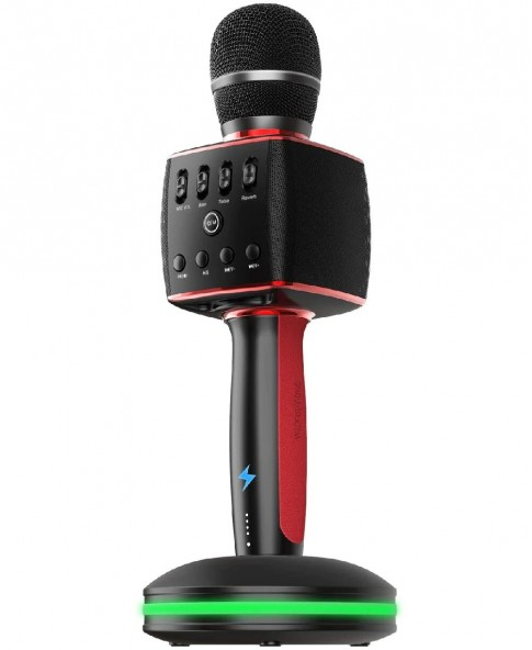 Madsound Y15S BLACK (черный) - аккумуляторный блютуз микрофон с док станцией нового поколения